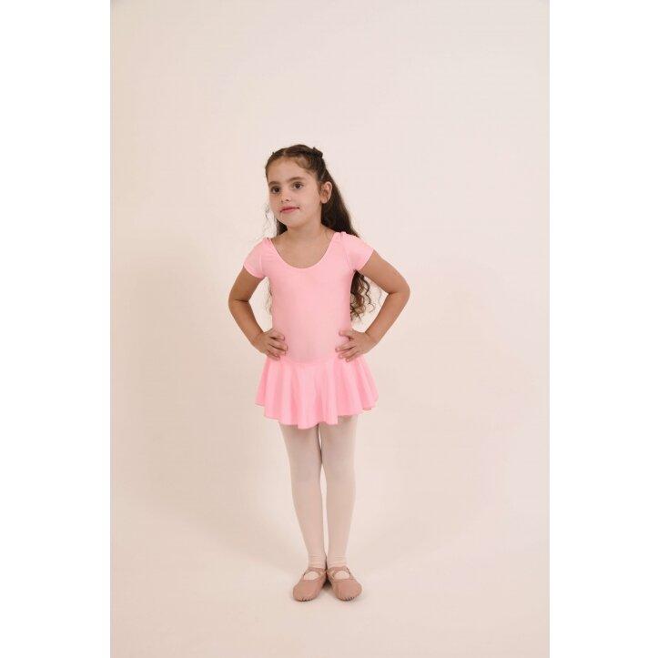 בגד גוף לילדות שרוול קצר וחצאית 3