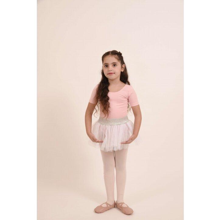 חצאית טוטו אולינדה לבן עם פס כסף 6