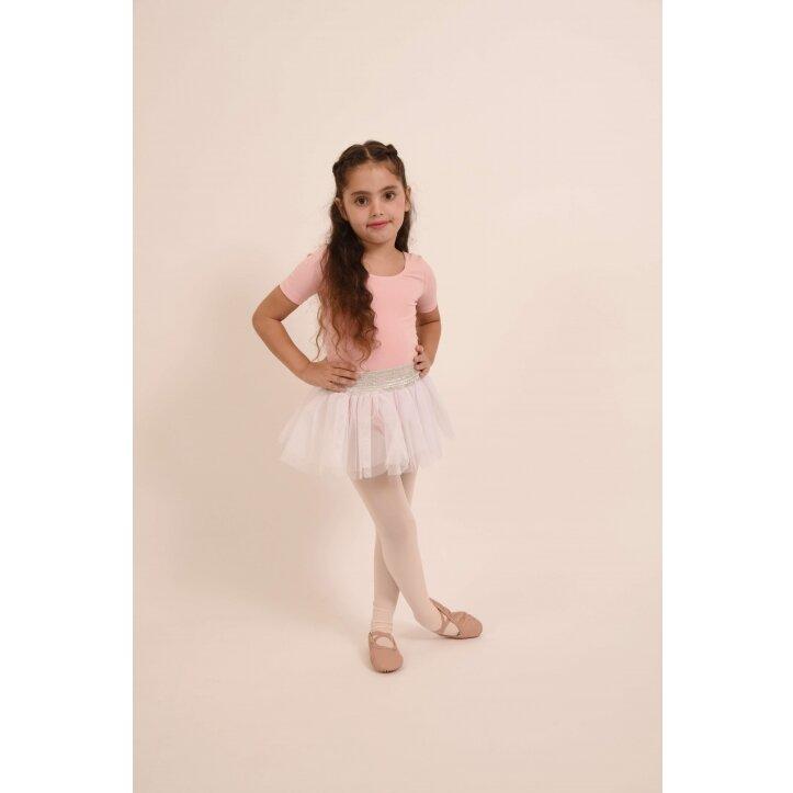 חצאית טוטו אולינדה לבן עם פס כסף 5