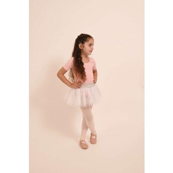 חצאית טוטו אולינדה לבן עם פס כסף 2