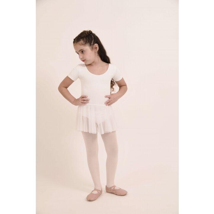 בגד גוף לילדות משולב חצאית שיפון 1