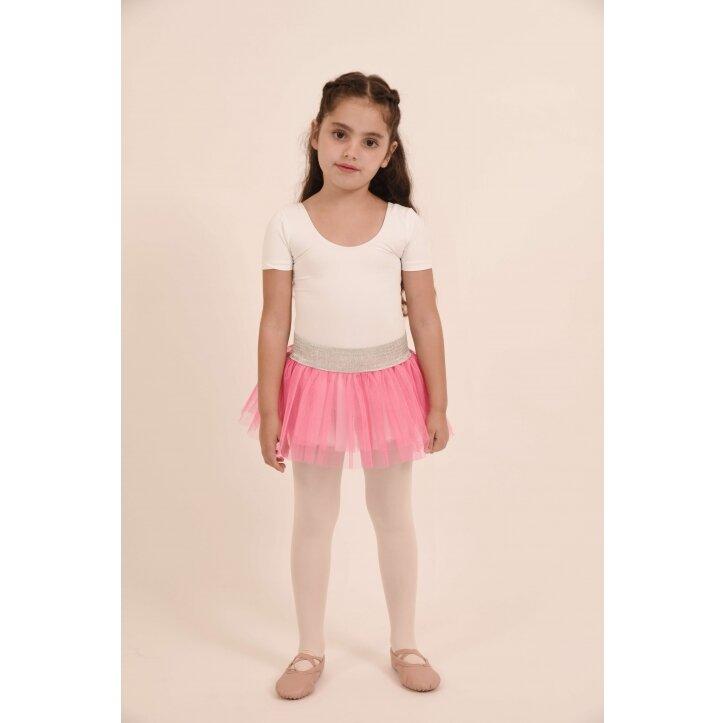 חצאית טוטו אולינדה לבן עם פס כסף 3