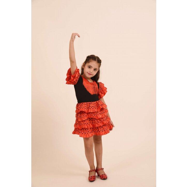 שמלת פלמנקו אדומה לילדות 11