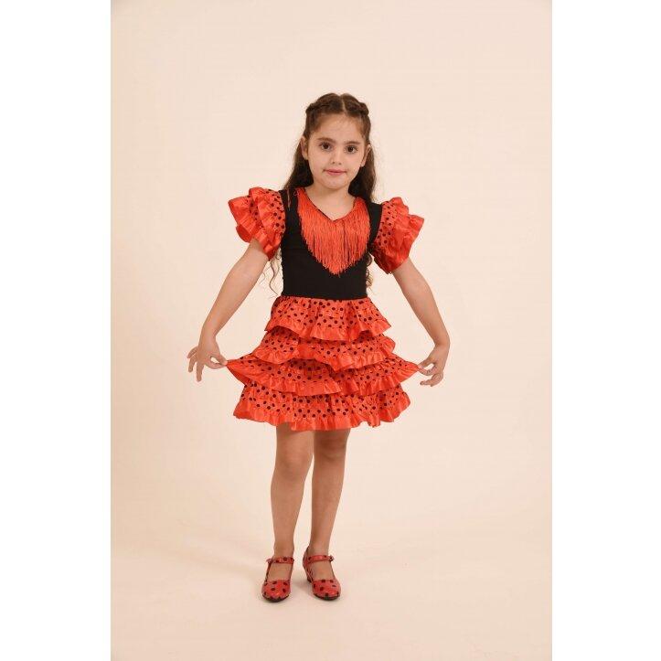 שמלת פלמנקו אדומה לילדות 5