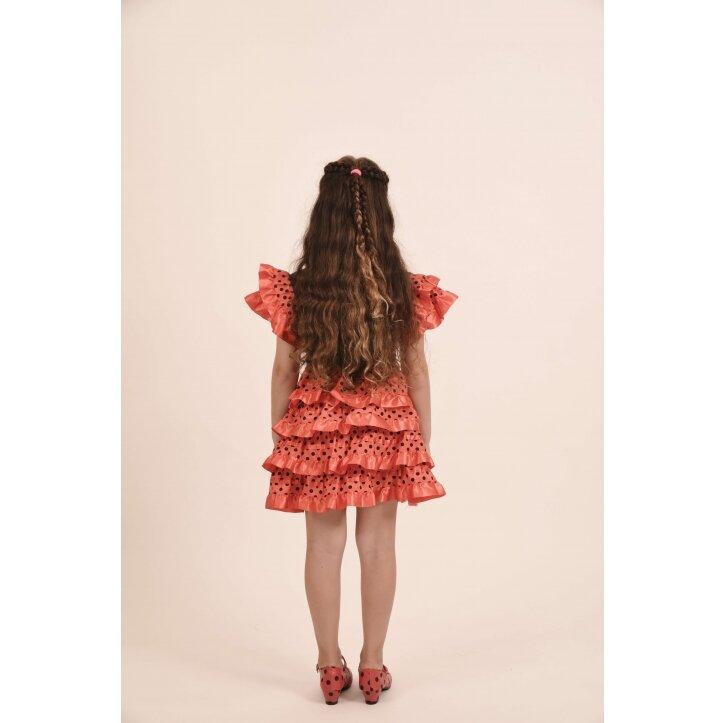 שמלת פלמנקו אדומה לילדות 4