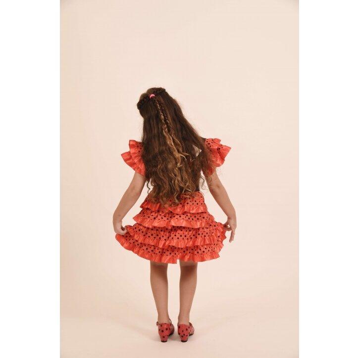 שמלת פלמנקו אדומה לילדות 9