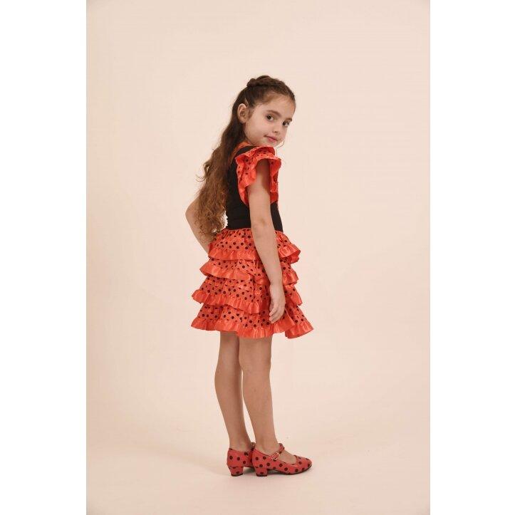 שמלת פלמנקו אדומה לילדות 6
