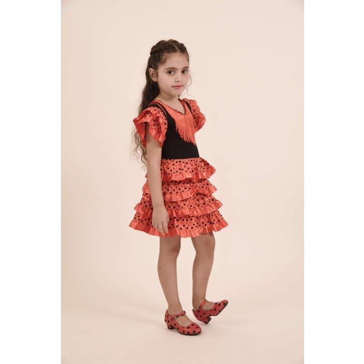 שמלת פלמנקו אדומה לילדות 10