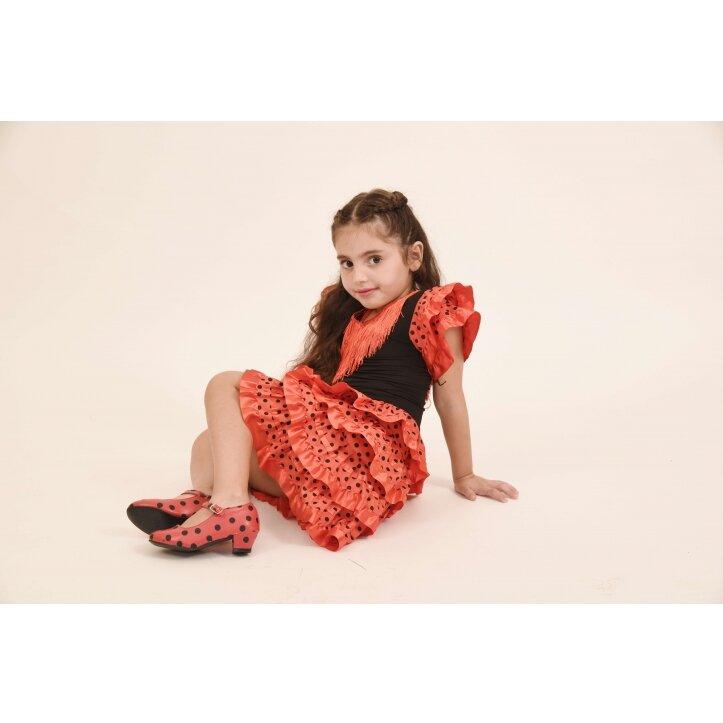 שמלת פלמנקו אדומה לילדות 3