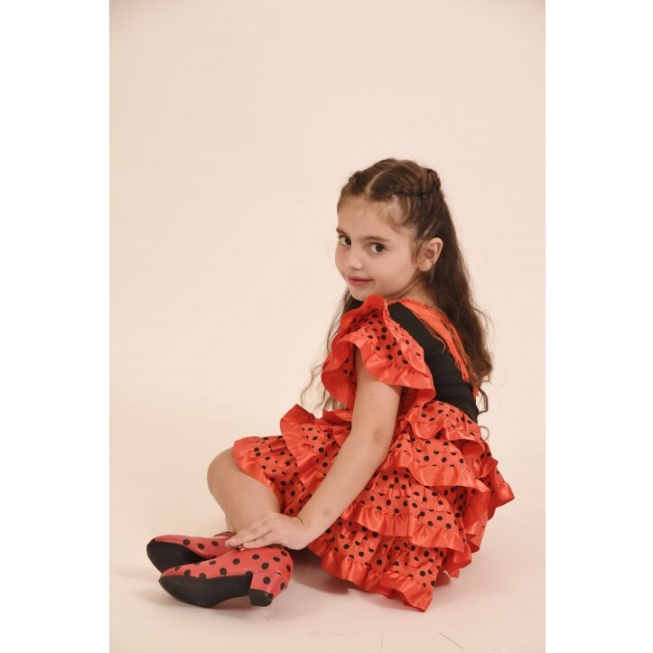 שמלת פלמנקו אדומה לילדות 8