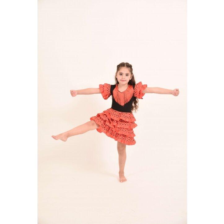 שמלת פלמנקו אדומה לילדות 1