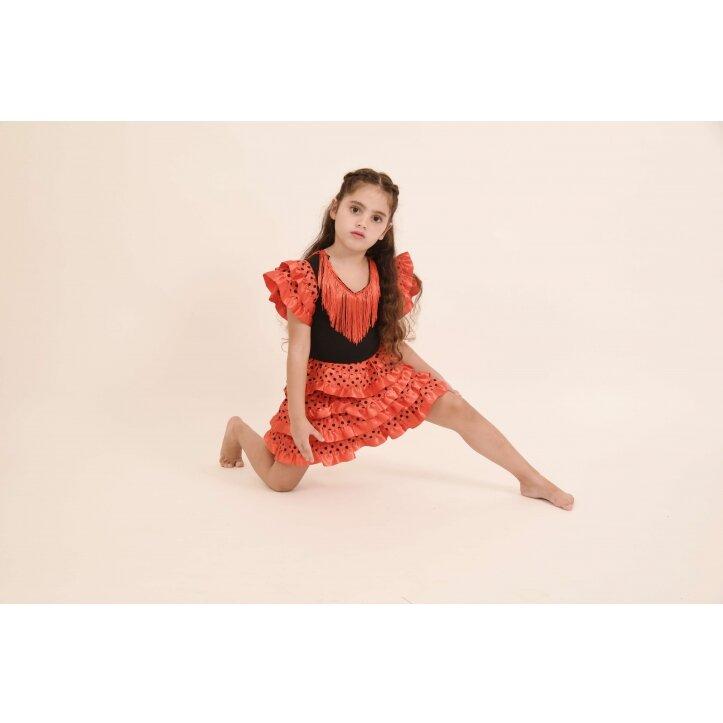 שמלת פלמנקו אדומה לילדות 2