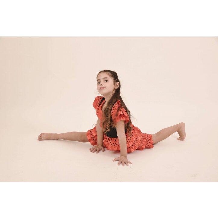 שמלת פלמנקו אדומה לילדות 7