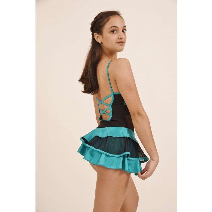 שמלת סלונים פרודנס טורקיז 2