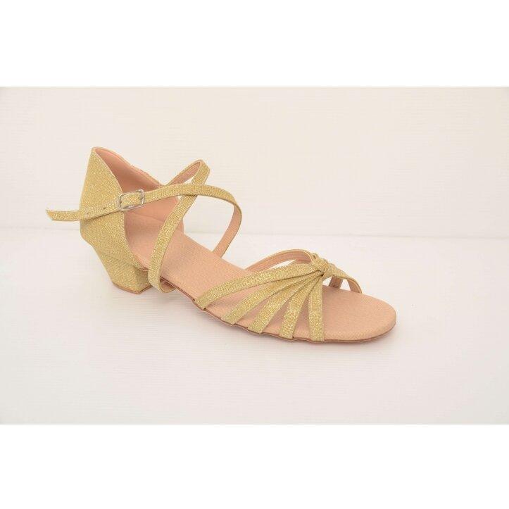 נעלי סלונים ילדות מוזהבות 1