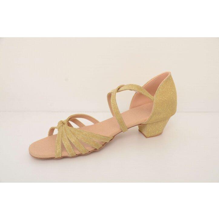 נעלי סלונים ילדות מוזהבות 3