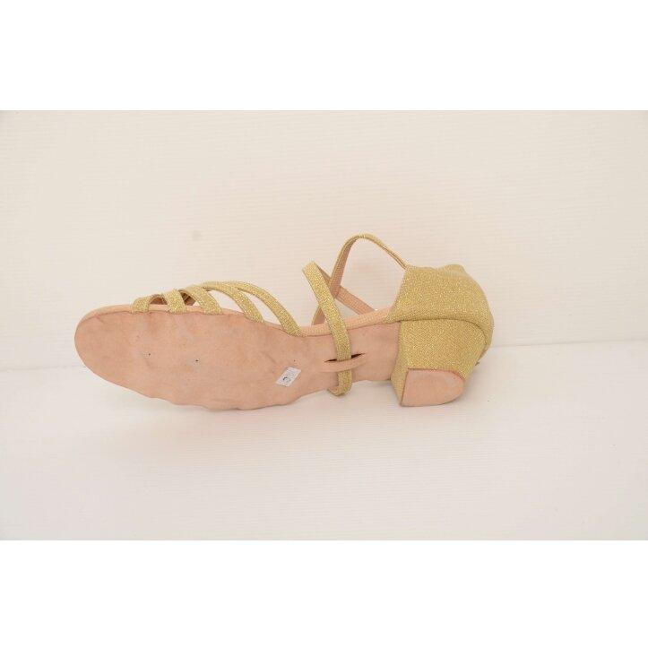 נעלי סלונים ילדות מוזהבות 2