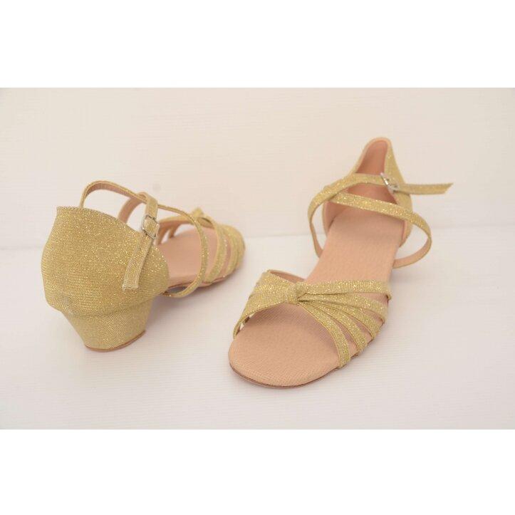 נעלי סלונים ילדות מוזהבות 4