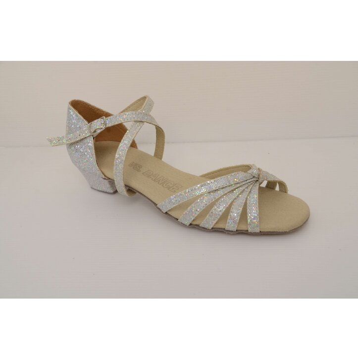 נעלי סלונים ילדות  כסופות 1