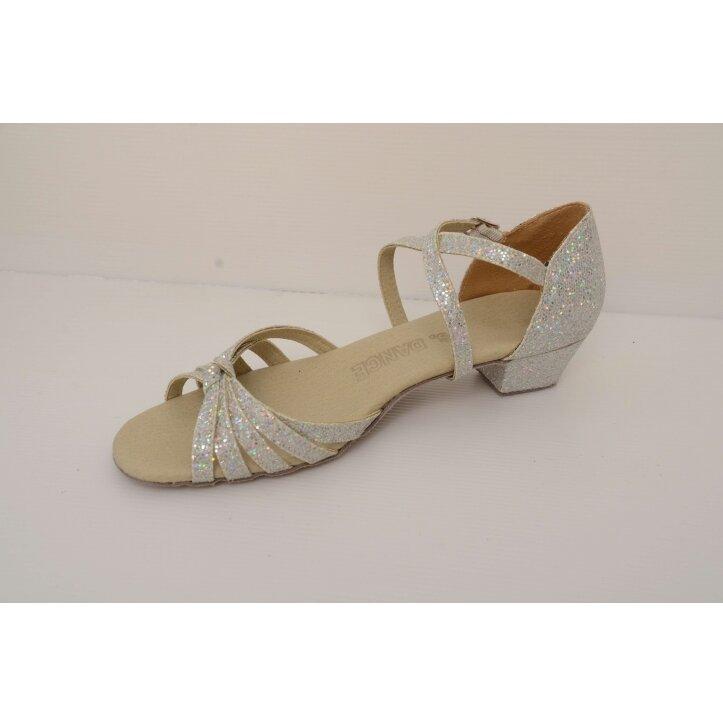 נעלי סלונים ילדות  כסופות 4