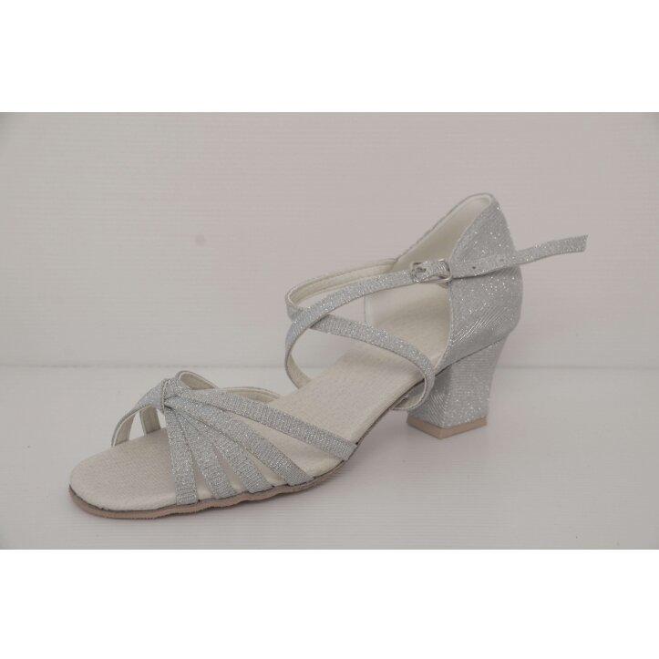 נעלי סלונים ילדות  כסופות 9