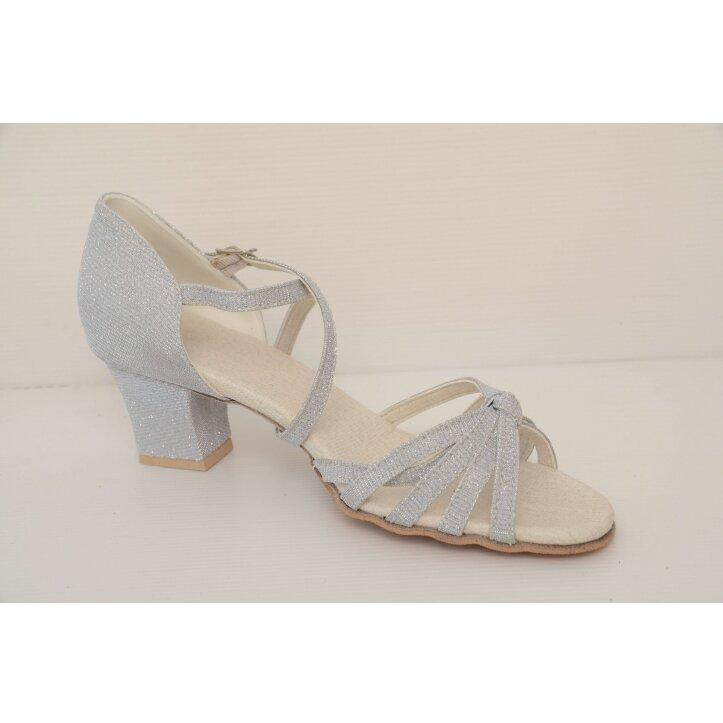 נעלי סלונים ילדות כסופות 6
