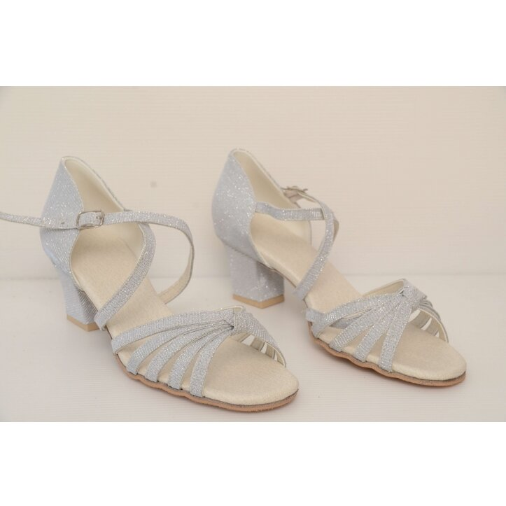 נעלי סלונים ילדות כסופות 8