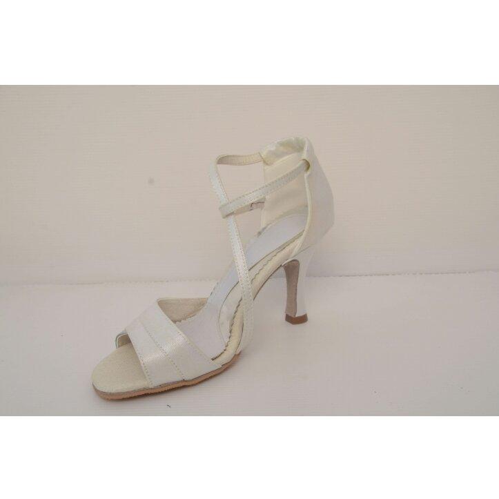 נעלי כלה רצועת איקס צבע קרם 6