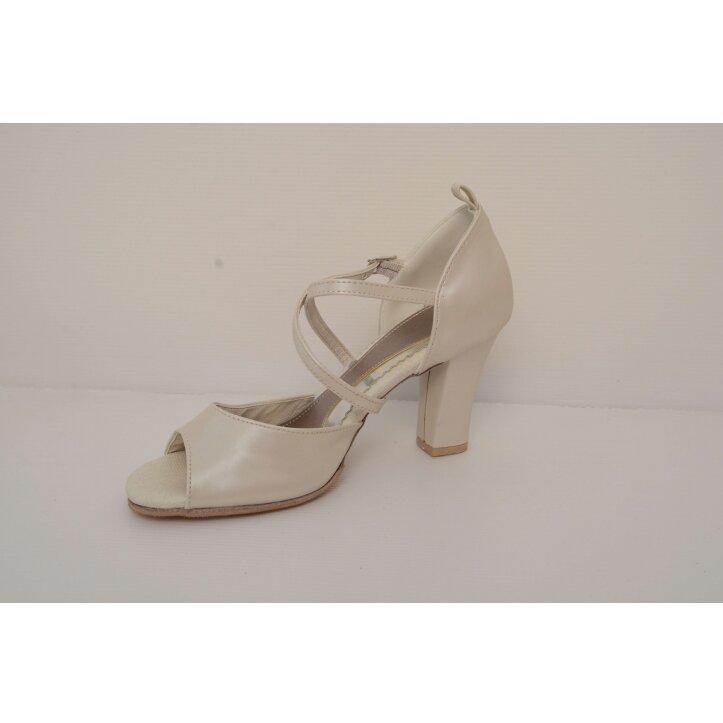 נעלי כלה רצועת איקס צבע קרם 4