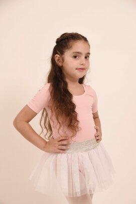 חצאית טוטו אולינדה לבן עם פס כסף 1