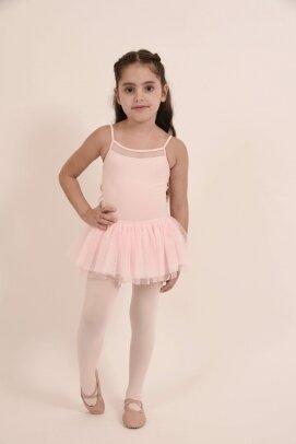בגד גוף לילדות בלוך עם חצאית 1