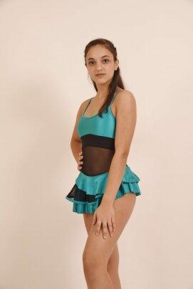 שמלת סלונים פרודנס טורקיז 1